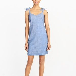 J.crew Tie-shoulder dress in denim